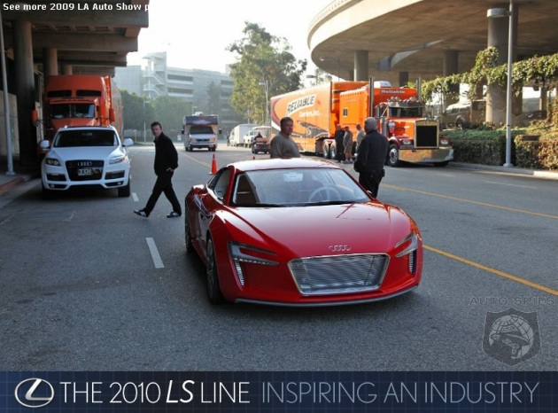 LA 2009: Audi e-tron hits the street thumbnail