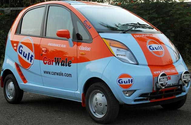 If you've ever wondered what a Tata Nano looks like in Gulf livery, well… wonder no more thumbnail