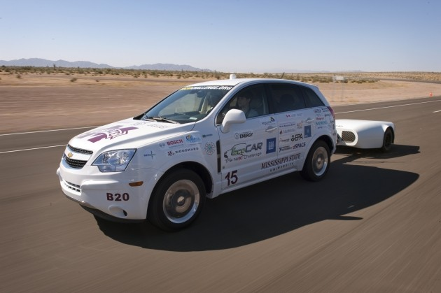 MSU students win stage 2 of EcoCAR challenge with 118 MPGe plug-in hybrid thumbnail