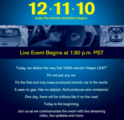 First Nissan Leaf delivery happening on Facebook today, but are there major delays nationwide? thumbnail