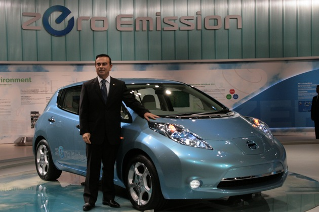 Carlos Ghosn: Nissan Leaf sales to hit record-setting 1,500 in U.S. in June thumbnail