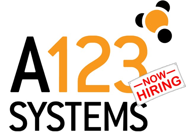 A123 Systems will hire 400 new workers despite uncertain future thumbnail
