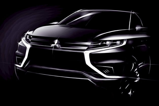 Official: Aggressive new Mitsubishi Outlander PHEV Concept-S coming to Paris thumbnail