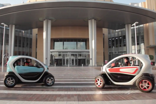 Video: Watch Lotus F1 team careen through a mall in Renault Twizy EVs thumbnail
