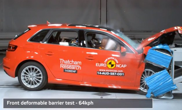 Official: Audi A3 Sportback e-tron gets top grades in European crash tests [w/video] thumbnail