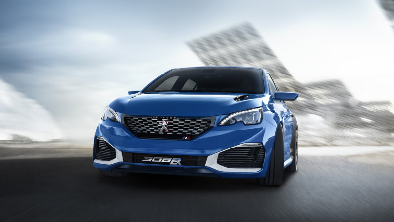 Peugeot 308 R Hybrid plugs in 500 horses for Shanghai thumbnail
