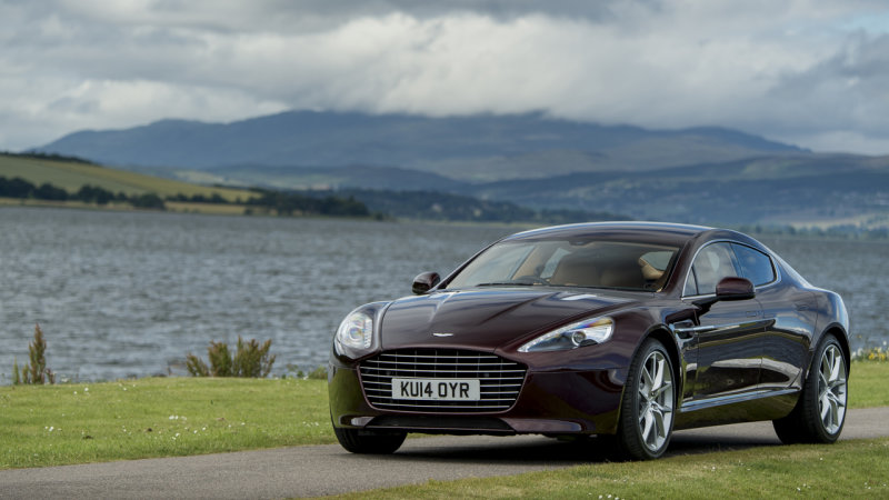 Aston Martin shows electric Rapide, production possible in two years thumbnail