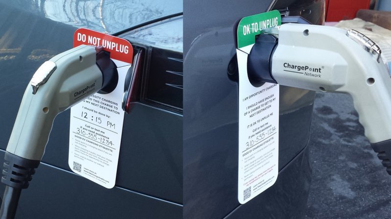 Californians do battle for limited number of plug-in stations, spaces thumbnail