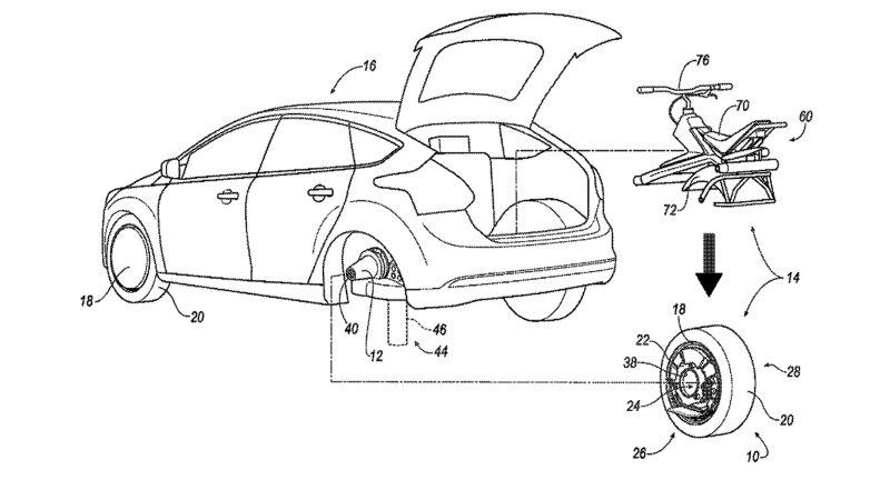 Ford patents rear wheel that converts into a unicycle thumbnail