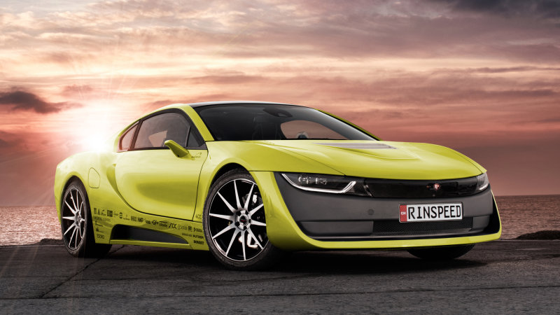 The Rinspeed Etos is a BMW i8 that drives itself and comes with a drone thumbnail