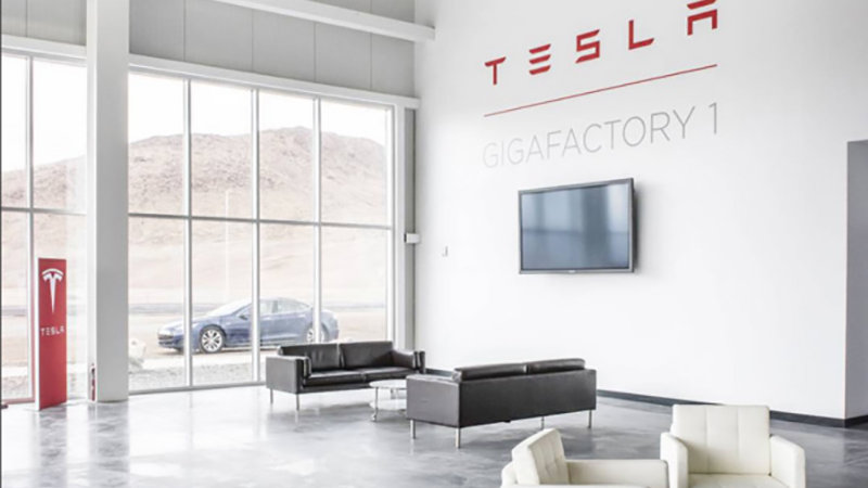 This is our first look inside the Tesla Gigafactory 1 thumbnail