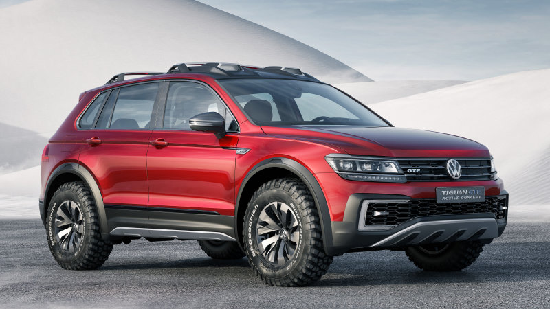 VW Tiguan GTE Active Concept is a sporty off-road hybrid thumbnail