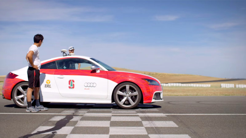 Watch Stanford's self-driving Audi hit the track thumbnail