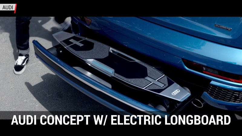 Audi put an electric longboard in the bumper of a Q3 | Autoblog Minute thumbnail