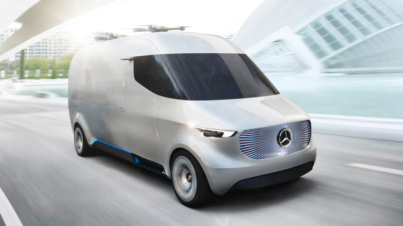 Mercedes-Benz has a Vision of autonomous, drone-launching delivery vans thumbnail