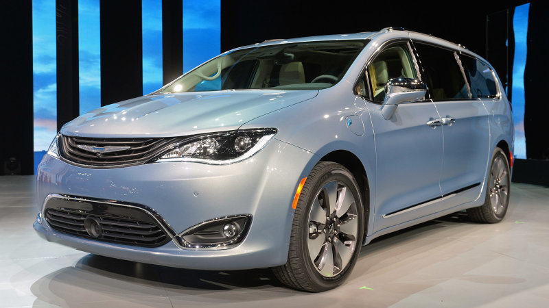 2017 Chrysler Pacifica Hybrid starts at $43,090, or just over $35,000 with a tax credit thumbnail
