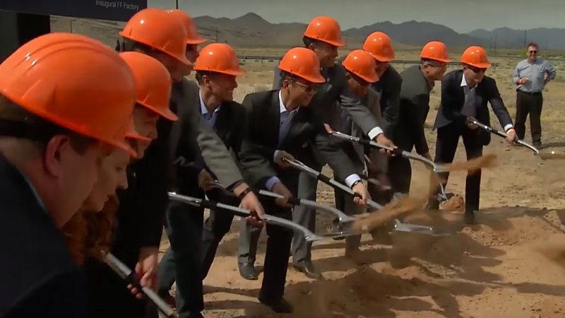 Work at Faraday Future's factory construction site has reportedly stopped thumbnail