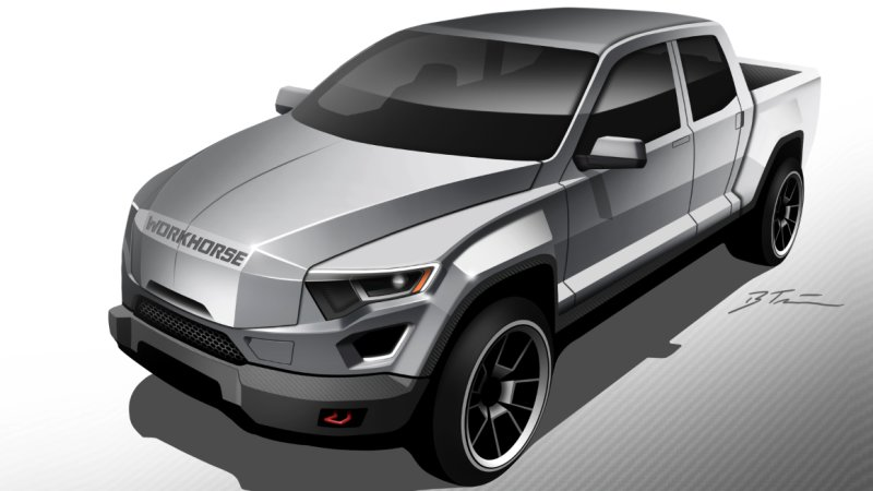 Workhorse Group renders electric pickup truck for fleet use thumbnail