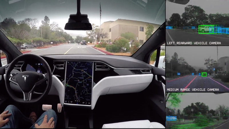 Tesla self-driving demo shows you what the car sees thumbnail