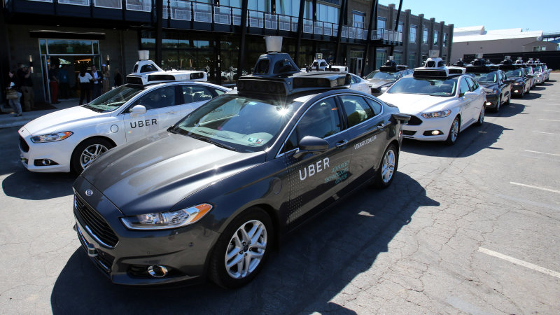 Uber's autonomous Ford Fusions are back in San Francisco, not driving autonomously thumbnail