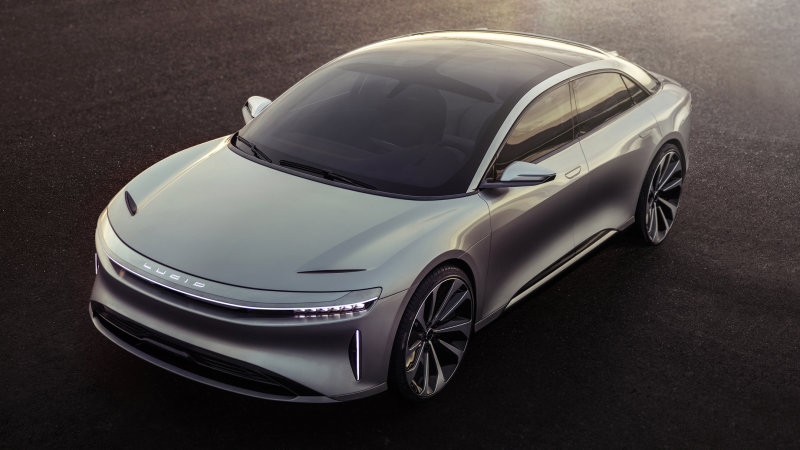 The Lucid Air is ambitiously priced at $52,500 after tax credit thumbnail