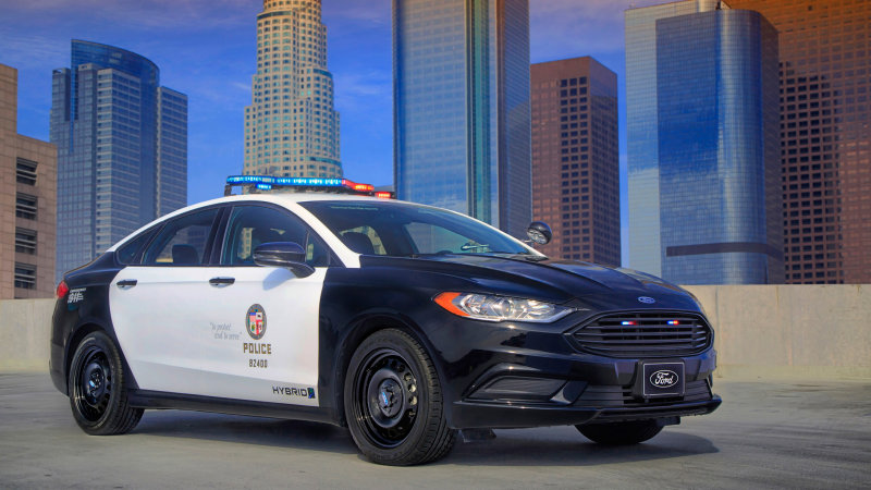 This is the Ford Police Responder Hybrid Sedan, the first pursuit-rated hybrid cruiser thumbnail