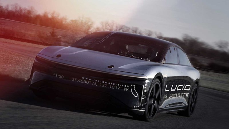 Lucid Air EV prototype hits 217 mph in testing thumbnail